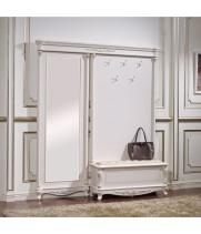 Прихожая с сиденьем Афина белая с жемчугом (AFINA)