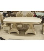 Стол обеденный 2.-3,1 Афина белая с золотом (AFINA)