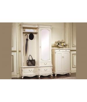 Прихожая шкаф Афина белая с золотом (AFINA)