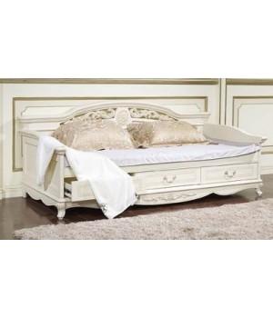 Кровать детская 0.9 м Афина белая с жемчугом ( AFINA)