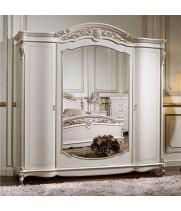 Шкаф 5 дв. Афина белая с золотом (AFINA)