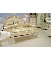 Кровать 160x200 Афина белая с зол. (AFINA)