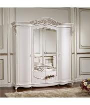 Шкаф 4 дв. Афина белая с жемчугом (AFINA)