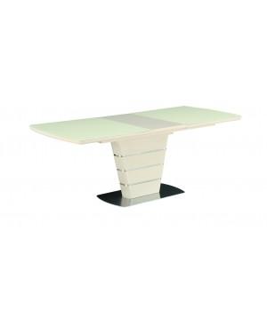 Стол обеденный ZENIT (сатинированное стекло ваниль)