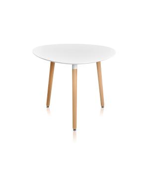 Стол обеденный SIRIO (D900x720) WHITE (белый)