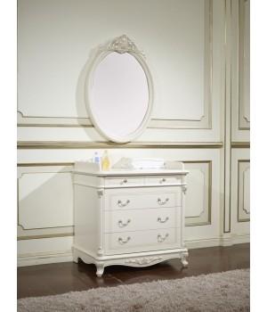 Зеркало настенное Афина белая с жемчугом ( AFINA)