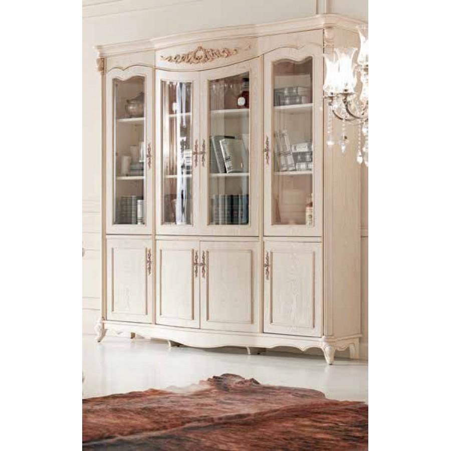 Шкаф книжный (4 двери, Слоновая кость) Carpenter 230