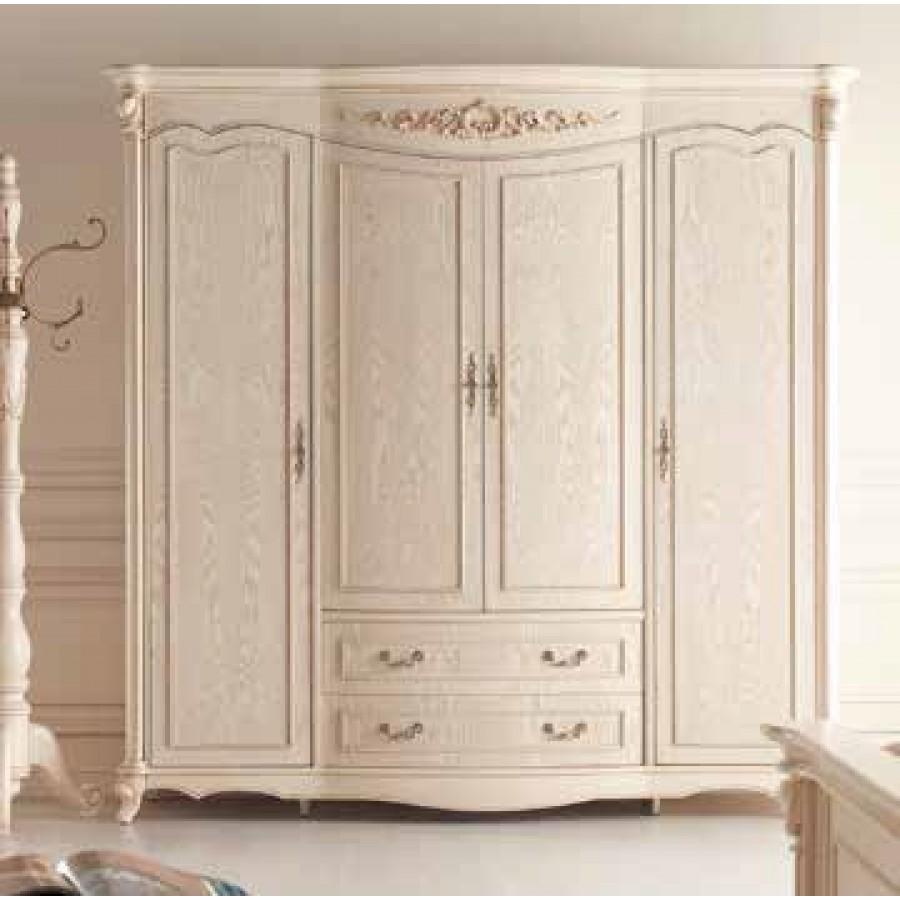 Шкаф (4 двери, Слоновая кость) Carpenter 230