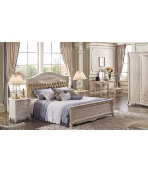 Кровать Онда 180*200 (Слоновая кость, кожа 31) Carpenter 230