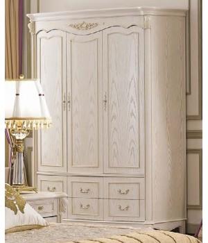 Шкаф (3 двери, Слоновая кость) Carpenter 230