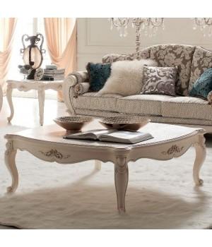Столик чайный  прямоугольный (Слоновая кость) Carpenter 230