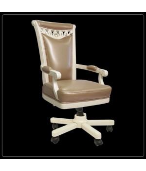 Кресло кабинетное (Слоновая кость, кожа 33) Carpenter 230