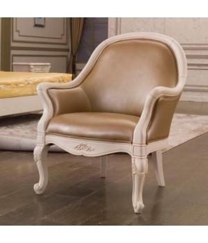Кресло низкое (Слоновая кость, кожа 33) Carpenter 230