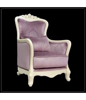 Кресло классическое (Слоновая кость, ткань  61, 62) Carpenter 230