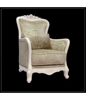 Кресло классическое (Слоновая кость, ткань  71) Carpenter 230