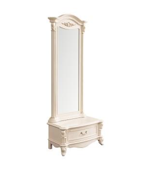 Зеркало напольное с тумбой (Слоновая кость) Carpenter 230