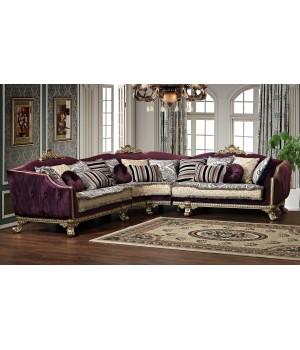 Угловой диван SABRINA (Сабрина) фиолетовый
