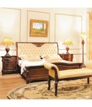 Кровать В 1,8*2,0 м (кожа)  Элизабет 201 (Elizabeth)