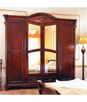 Элизабет 201 (Elizabeth) Шкаф 4-х дверный с зеркалом