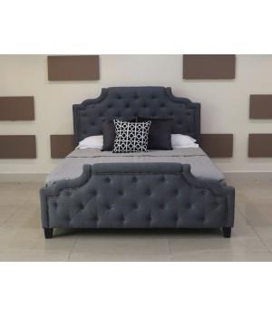 Кровать Marella (Марелла) B595 180*200 Темно-Серый с/осн