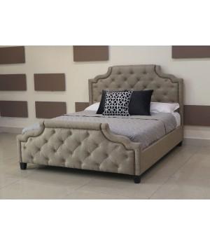Кровать Marella (Марелла) B595 180*200 Бежевый Лен с/осн