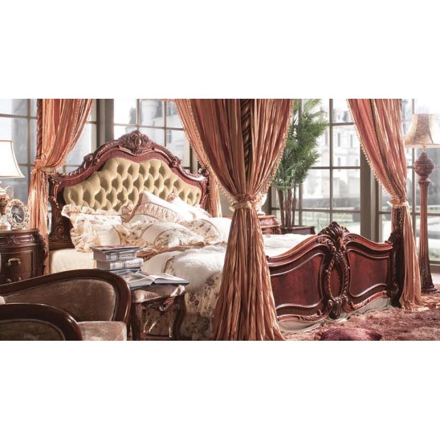 Кровать С 1,8*2,0 м (кожаное изголовье) б/л Александрия (Aleksandria)