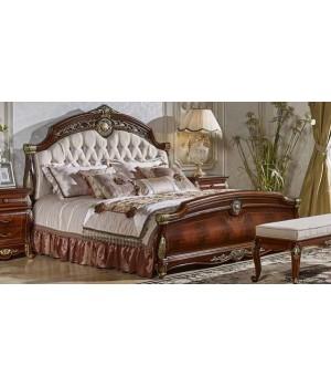 Кровать Орех 1,8*2,0 Б/Л Ткань Аманда (Amanda)