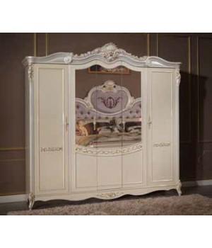 Шкаф 5-ти дверный с зеркалами Корсика бьянка (Corsica bianca)
