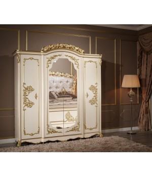 Шкаф 4-х дверный с зеркалами Фиора Каса (Fiora Casa)