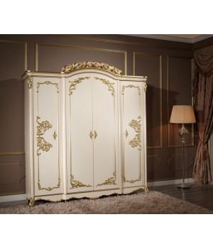 Шкаф 4-х дверный без зеркал Фиора Каса (Fiora Casa)