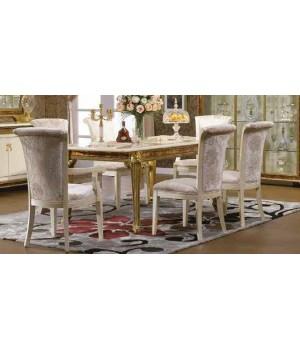 Стол обеденный 2,4-2,8 м (на 4 ногах) Изабелла (Isabella) TY-801