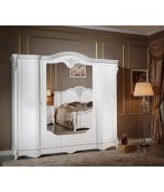 Шкаф 5-и дверный Милана (Milana) белая