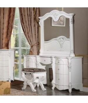 Туалетный стол с зеркалом Милана (Milana) белая
