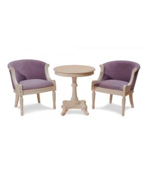 Кресло для отдыха /слоновая кость/ ткань сирен. W207 Вивальди (Vivaldi)
