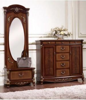 Зеркало напольное с ящиком Афина орех (AFINA)