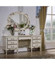 Туалетный столик с зеркалом Виттория белый жемчуг