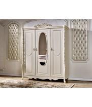 Шкаф 3-х дв. с зеркалом Виттория белый жемчуг