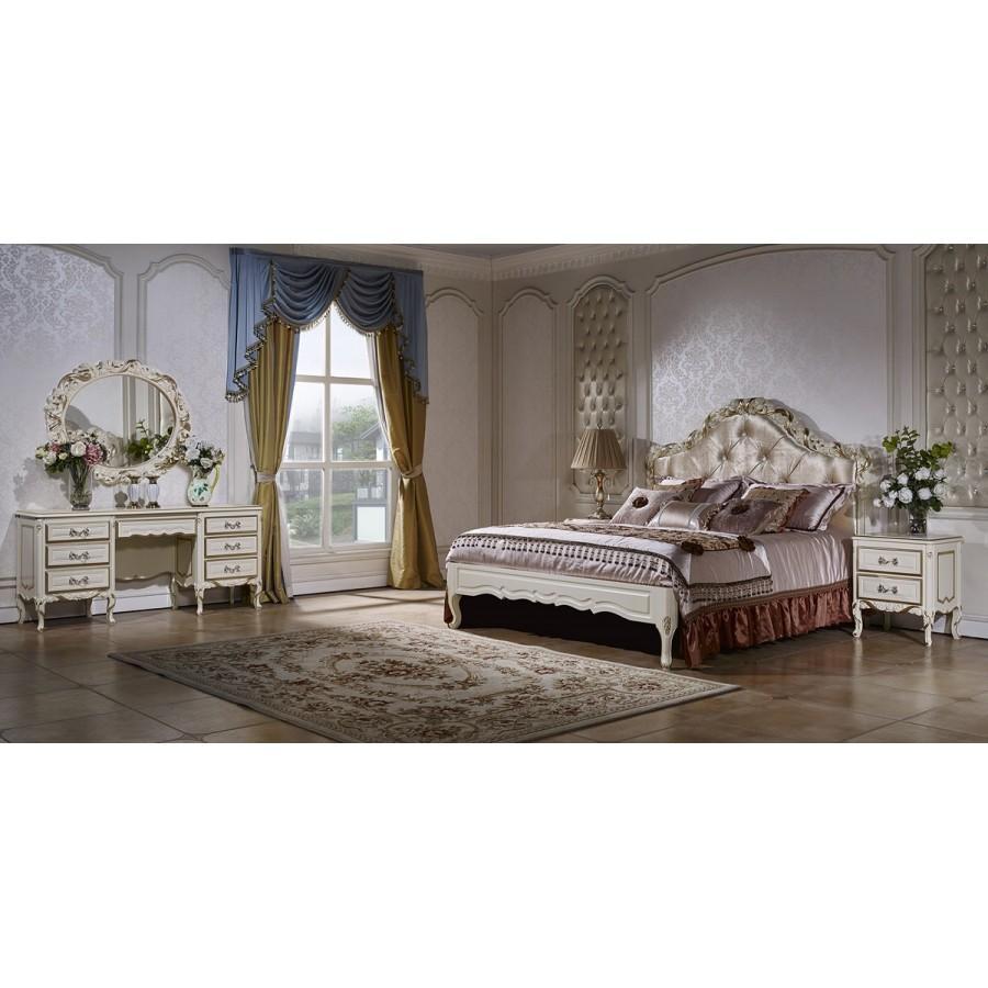 Спальня Виттория слоновая кость с золотом