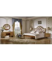 Спальня Виттория  орех с золотом