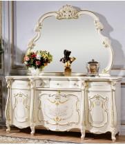 Магдалена белая Комод с зеркалом