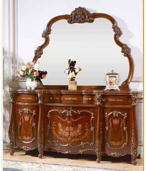 Магдалена орех Комод с зеркалом