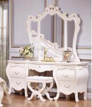 Мона Лиза белая Туалетный столик с зеркалом