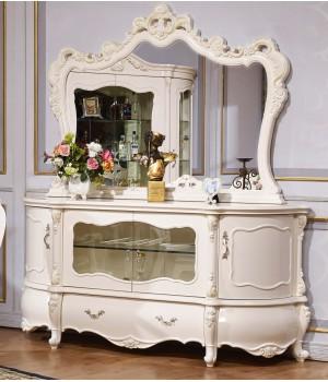 Мона-Лиза белая Комод с зеркалом