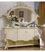 Роял слоновая кость Комод с зеркалом