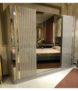 Шкаф 5ти дверный ЛАКШЕРИ 7005 серый