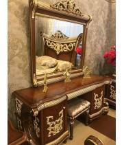 Туалетный стол с зеркалом Love (орех)