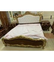 Кровать 180*200 Мона Лиза (орех с золотом)