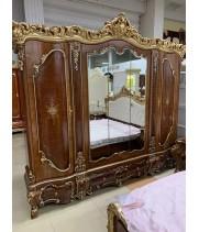 Шкаф 5-ти дверный Мона Лиза (орех с золотом)