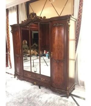 Шкаф 5-х дверный Руссано (орех)