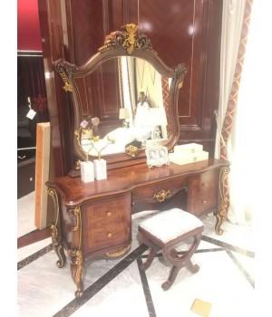 Туалетный стол с зеркалом Руссано (орех)